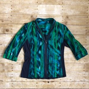 ELIE TAHARI zippered blouse